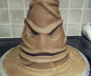cake, harry potter, and hat image