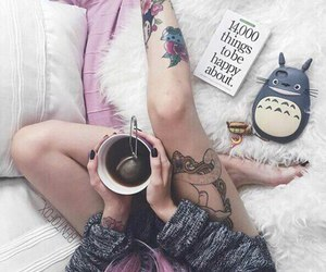 tattoo, coffee, and tea image