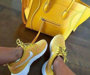 nike, yellow, and bag image