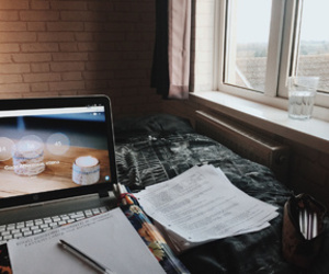 study, bed, and studyspo image