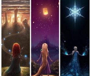 disney, rapunzel, and elsa image