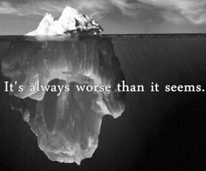 quotes, worse, and sad image