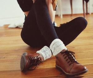 shoes, vintage, and socks image