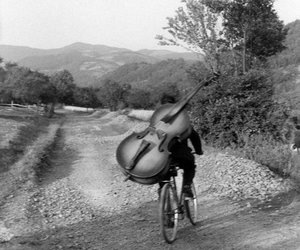 black and white, henri cartier-bresson, and music image