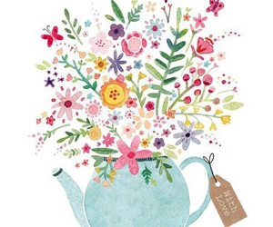 flowers and teapot image