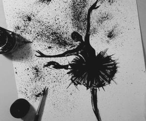 art, black, and ballet image