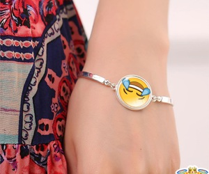 bracelet, emoticon, and jewelry image