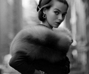 vintage, black and white, and beauty image