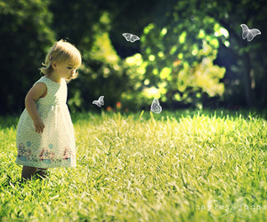 child and butterfly image