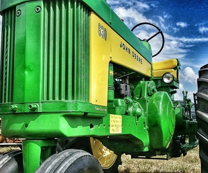 green, tractor, and vintage image