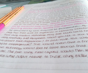 economics, notes, and pink image