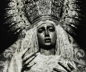 black and white, crown, and elaborate image