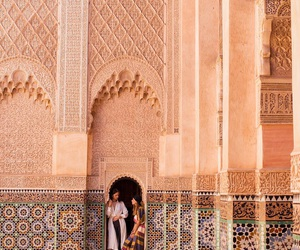 girl and marrakech image
