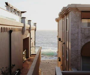 beach, sea, and architecture image