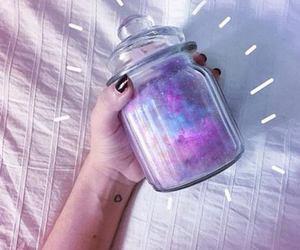 tumblr, galaxy, and purple image