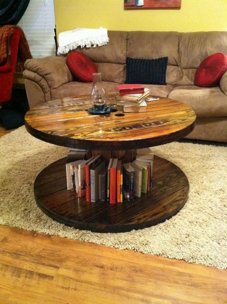 pallet coffee table, pallet table, and round coffee table image