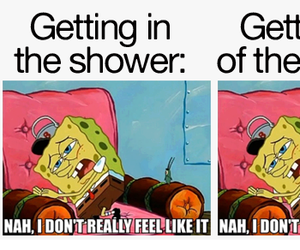 funny, spongebob, and shower image