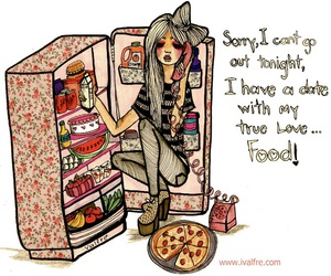 food, pizza, and date image