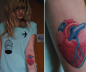 arm, girl, and heart image