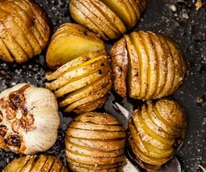 garlic, herb, and potato image
