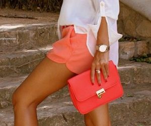 coral, fashion, and inspiration image