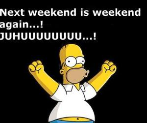 weekend, simpsons, and funny image