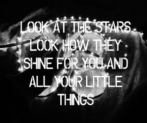 little things, quote, and stars image