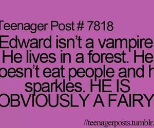 twilight, edward, and fairy image