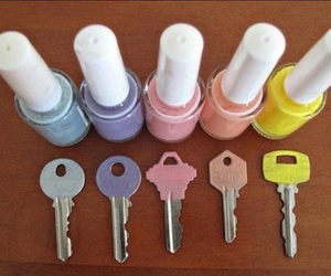 key, diy, and nail polish image
