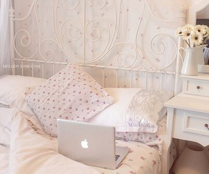 room, bedroom, and apple image