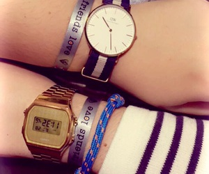 bracelets, casio, and watch image
