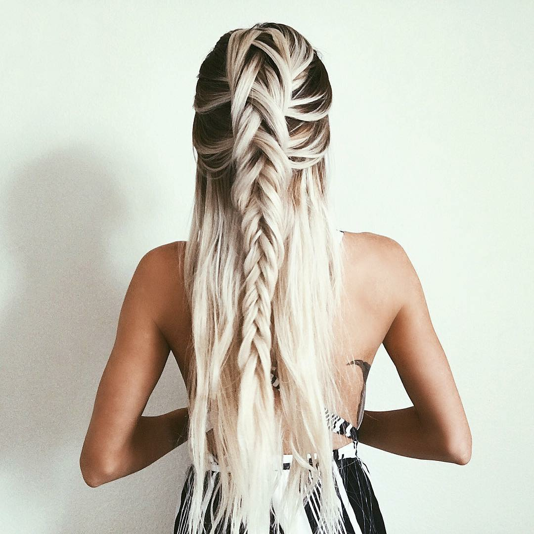 beauty, braiding, and clothes image
