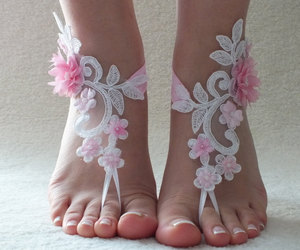 etsy, wedding barefoot, and woman image