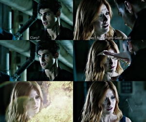 demon, clary fray, and alec lightwood image