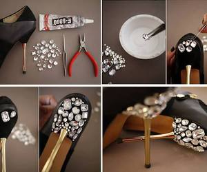 diy, heels, and shoes image