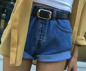 fashion, yellow, and grunge image