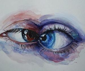 eyes, art, and blue image