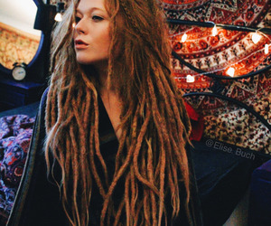 dreadlocks, dreads, and hair image