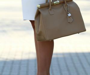 bag, high heels, and legs image