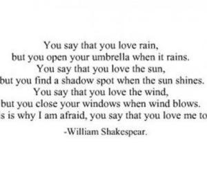love, quote, and rain image