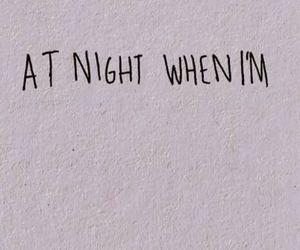 alone, night, and sad image