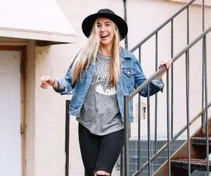 fashion, hat, and blonde image