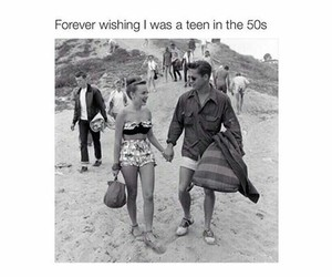 50s, teen, and beach image