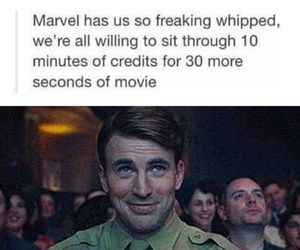 Marvel, funny, and captain america image