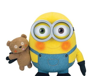 minions, background, and teddybear image