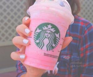 starbucks, tumblr, and pink image