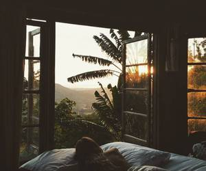 summer, bed, and nature image