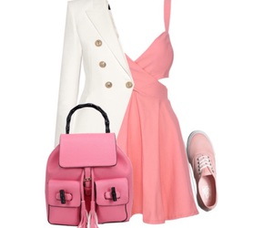 look, outfit, and pink image