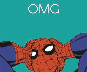 spiderman, OMG, and wallpaper image