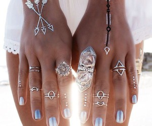 accessoires, nails, and white image